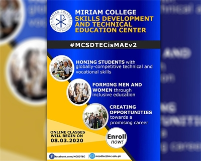 The New Face of Miriam Adult Education: Miriam College Skills Development and Technical Education Center