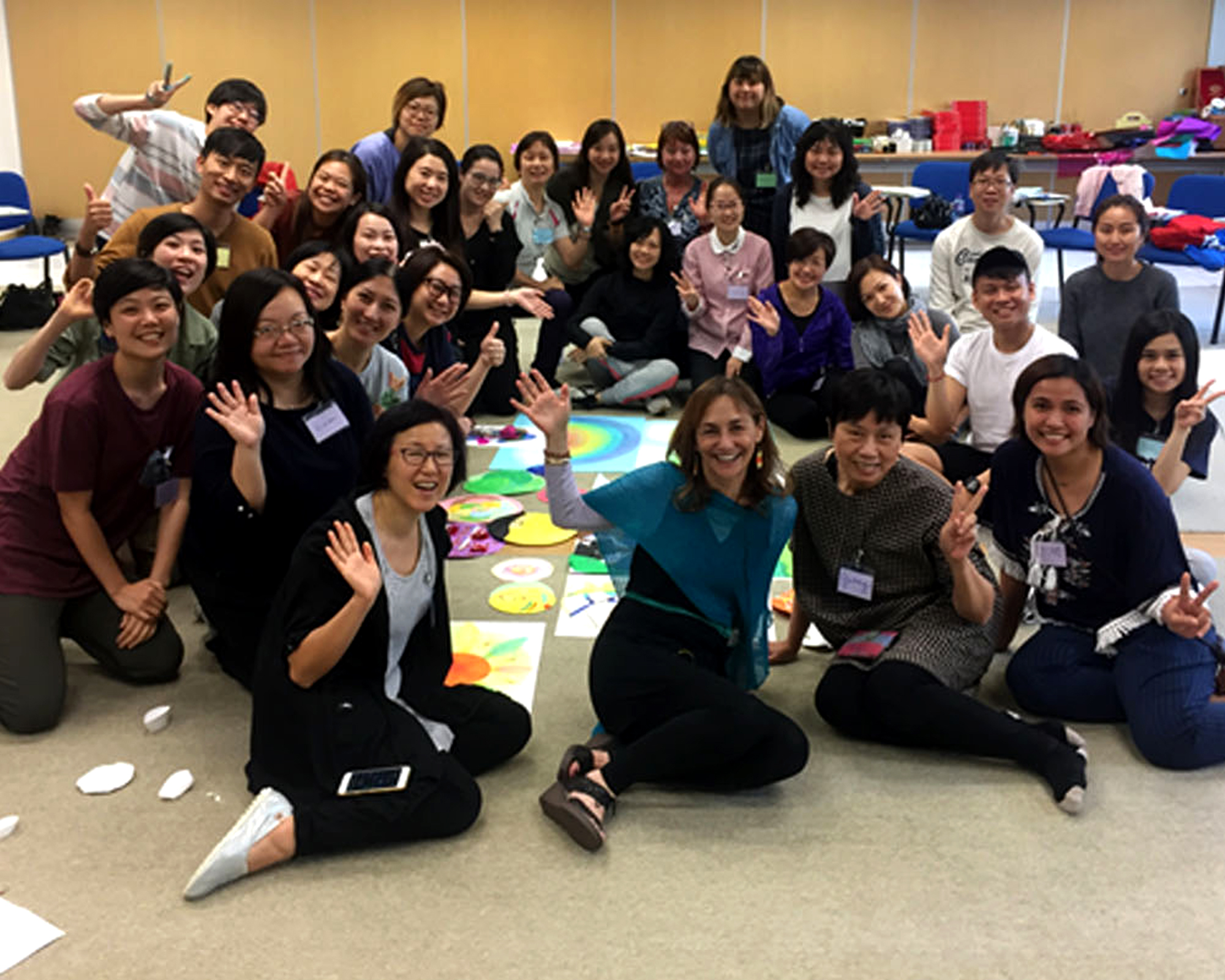 Dr. Brillantes-Evangelista assists in expressive arts therapy training in HK