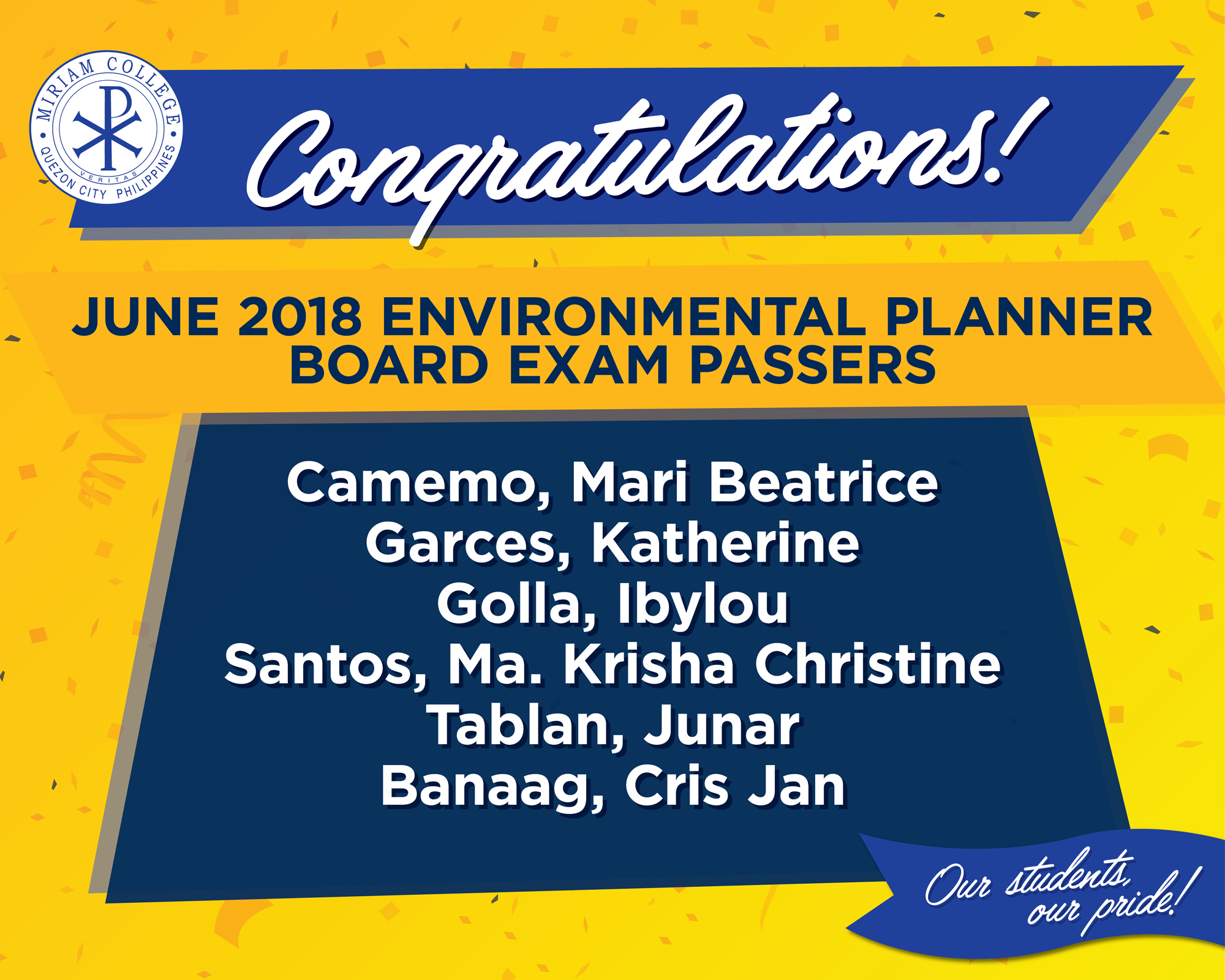 Congratulations to our new Environmental Planners!