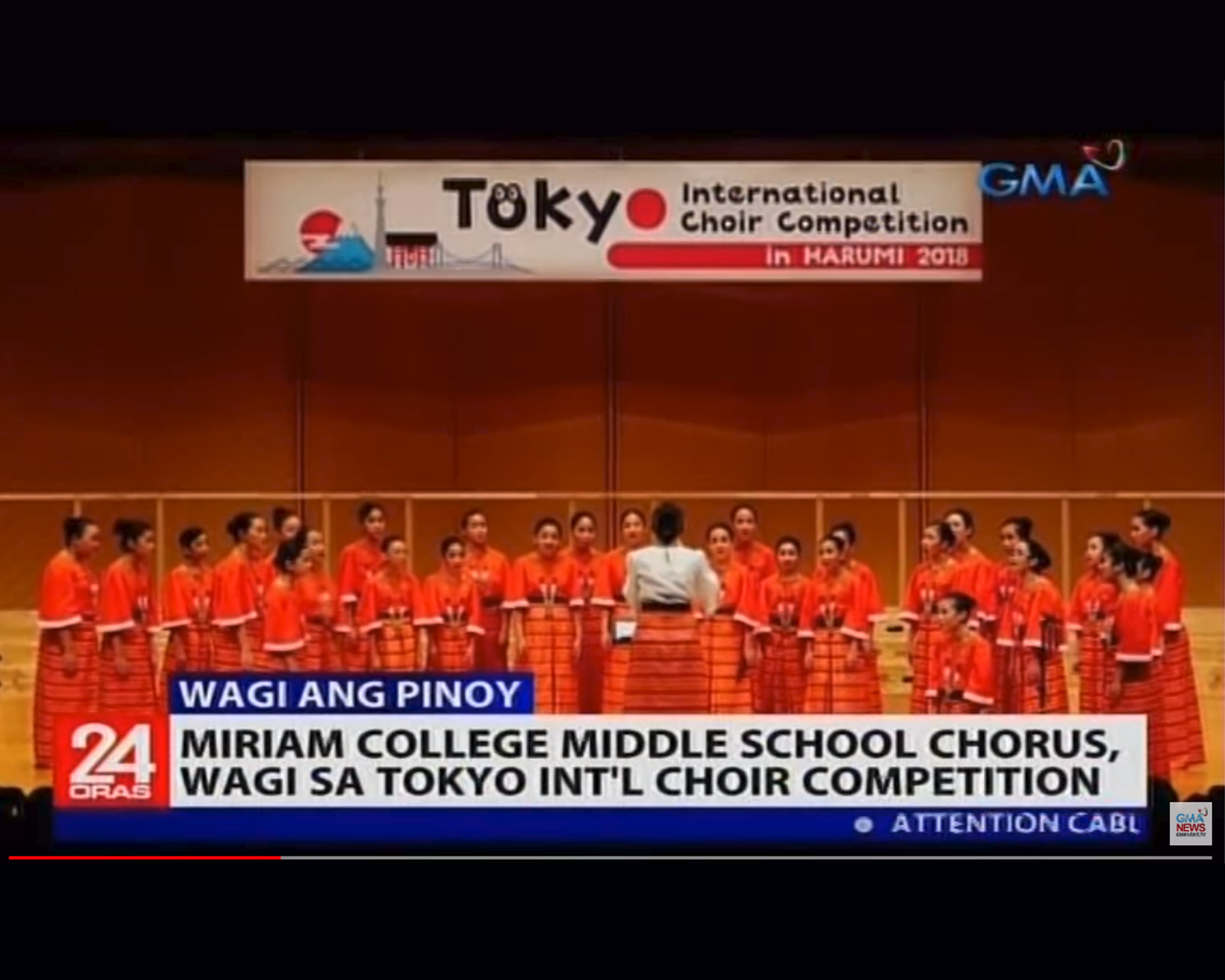 Miriam College Middle School Chorus | GMA 24 Oras