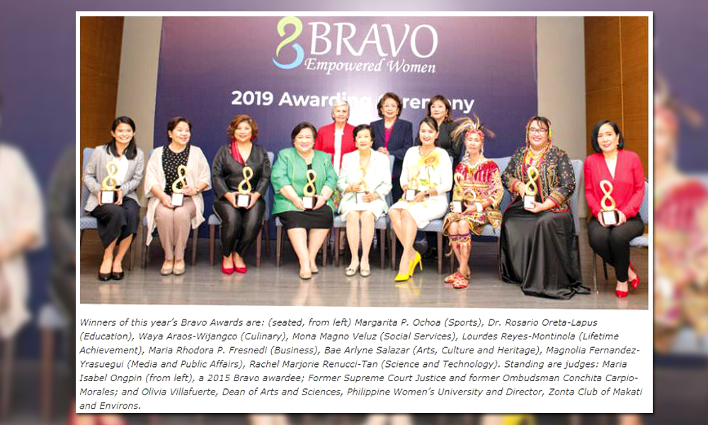 Bravo, women! by Ma. Stella F. Arnaldo | Business Mirror