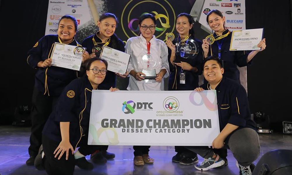 BS Entrepreneurship students awarded as Oro Plato Masa Culinary Competition's Grand Champion
