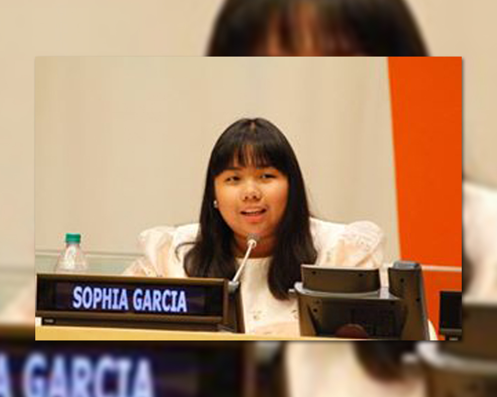 "On Speaking in the UN  |  Sophia Diane ""Soda"" C. Garcia (GS 2007, HS 2001, College 2015)"