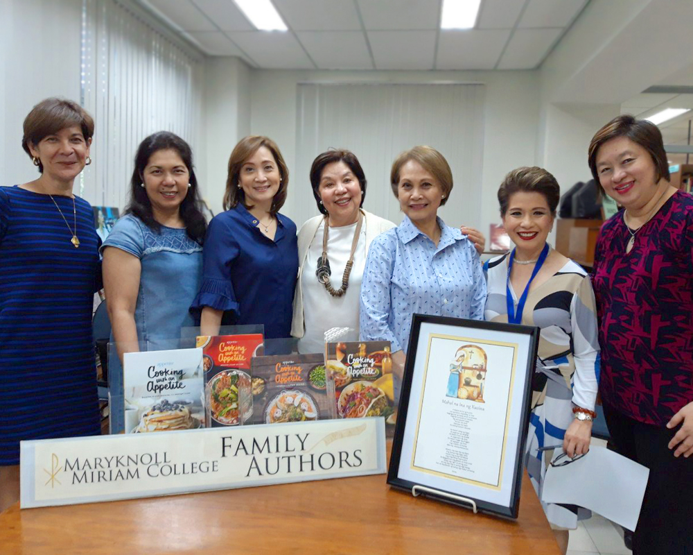 Renowned Chef and Author Nina Daza-Puyat gifts Miriam College with novena prayer