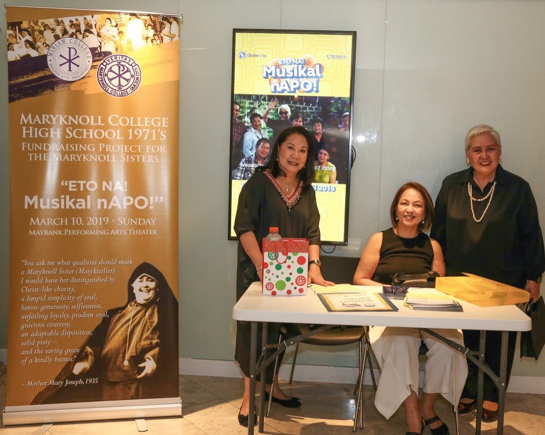 HS 1971 sponsors APO musical for the benefit of the Maryknoll Sisters