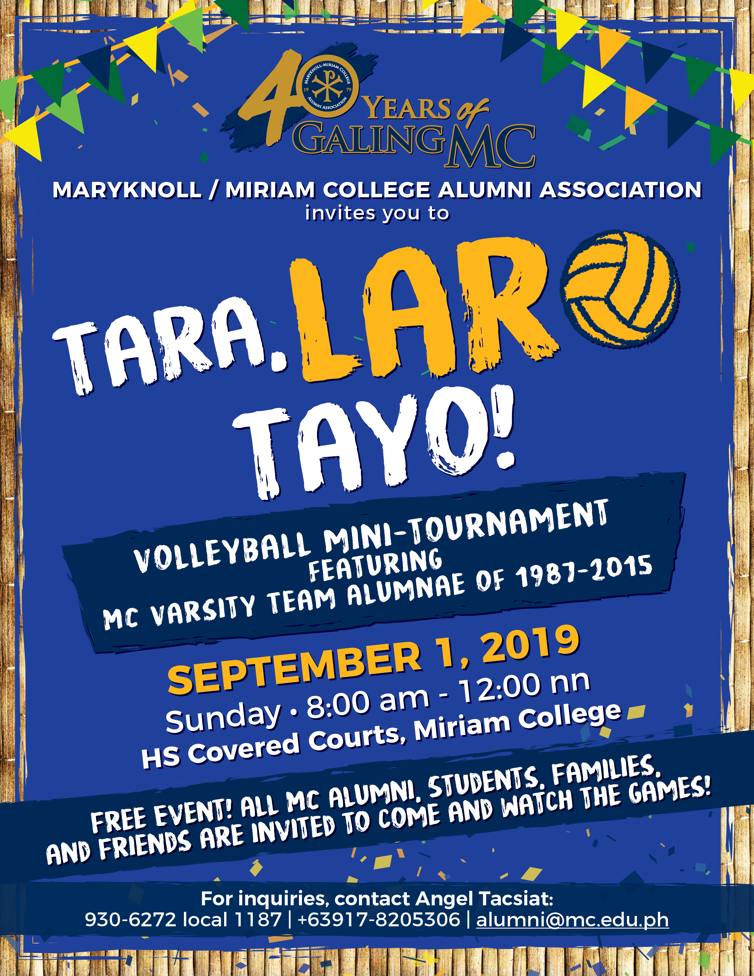 "MMCAA's ""Tara, Laro Tayo!"" Now a Volleyball Event"
