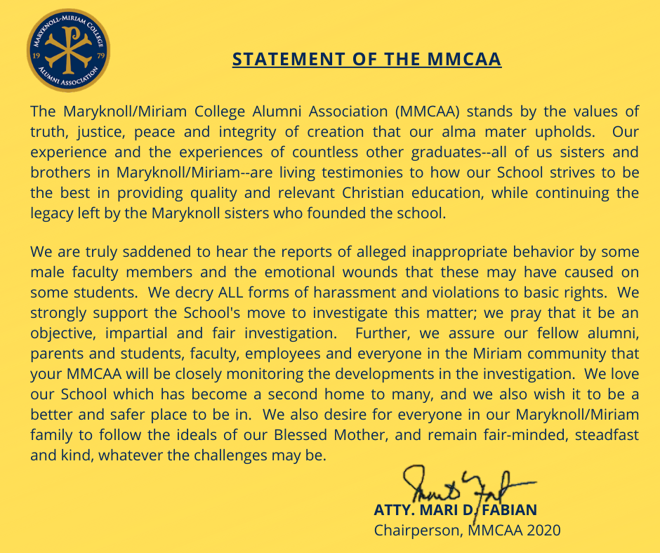 MMCAA Statement on Reports of Sexual Harassment