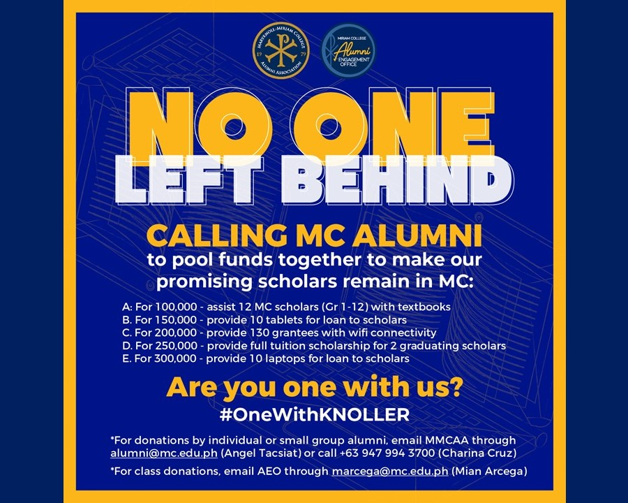 Be #OneWithKnoller: Support MC Scholars as they Learn from Home