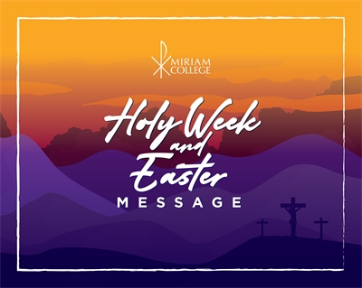 Holy Week and Easter Message