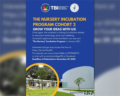 """""""The Nursery"""" Incubation Program reopens its applications for Cohort 2"""