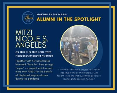 Alumni in the Spotlight: Mitzi Nicole Angeles (GS 2012, HS 2016, COL 2020)