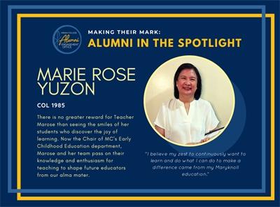 Alumni in the Spotlight: Marie Rose Yuzon (COL 1985)