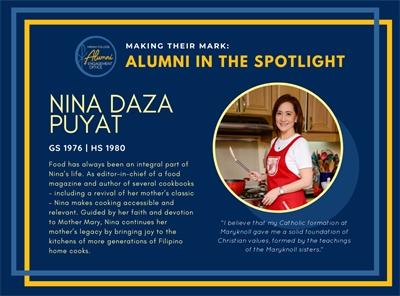 Alumni in the Spotlight: Nina Daza Puyat (GS 1976   HS 1980)