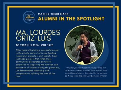 Alumni in the Spotlight: Lourdes Ortiz-Luis (GS 1962, HS 1966, COL 1970)