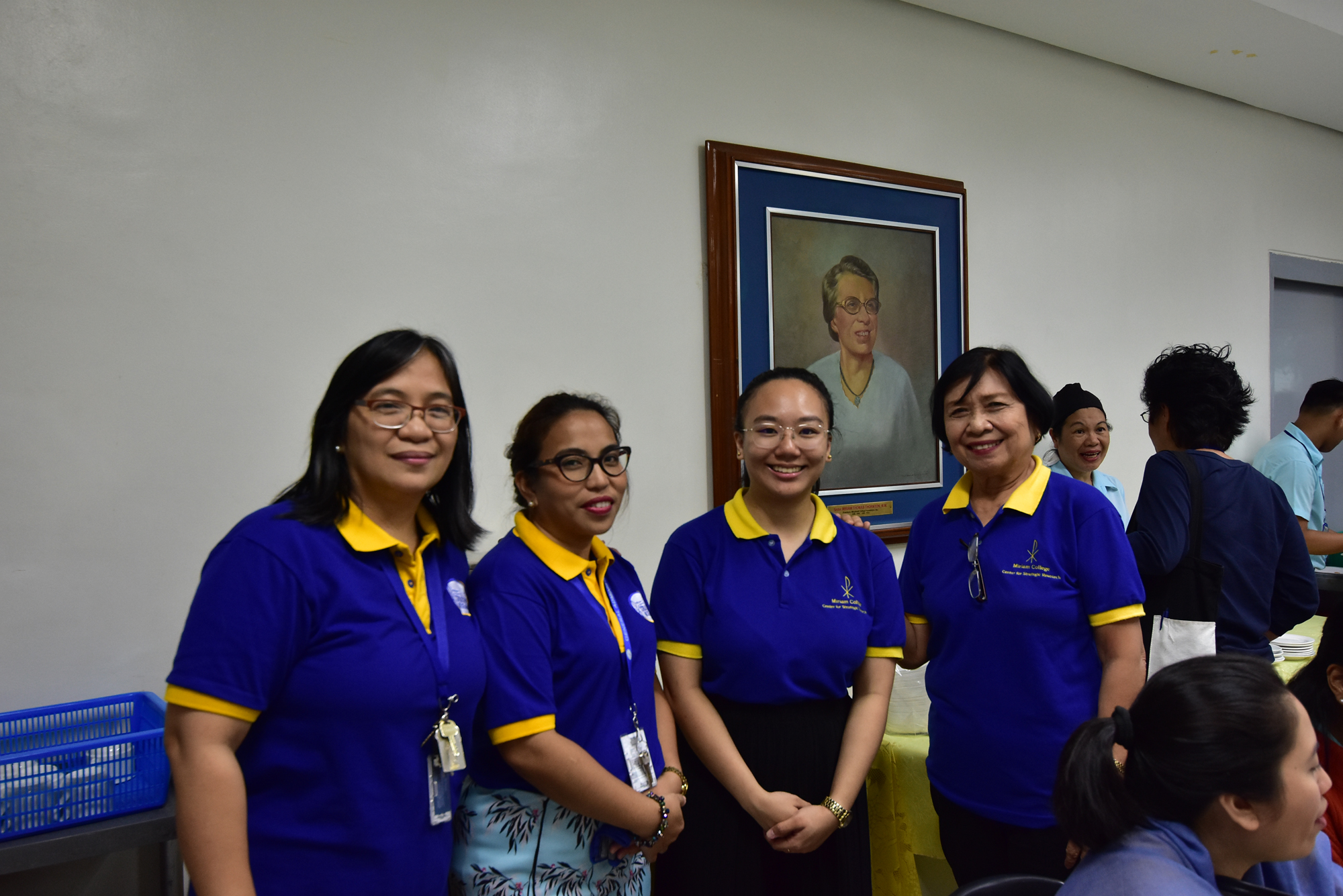 From left ro right: Dr. Carmen V. Penalosa, Executive Director (OIC) of CSR; Ms. Ma. Anna E. Villanueva, Program Coordinator for Research and Publications; Ms. Ysabel R. Padua, Technical Assistant; and Dr. Glenda E. Fortez, former Miriam College Vice President