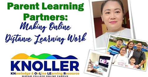 Parent Learning Partners: Making Online Distance Learning Work