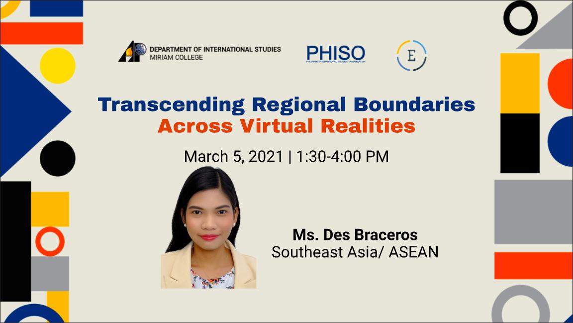 Transcending Regional Boundaries Across Virtual Realities: Southeast Asian Region/ASEAN
