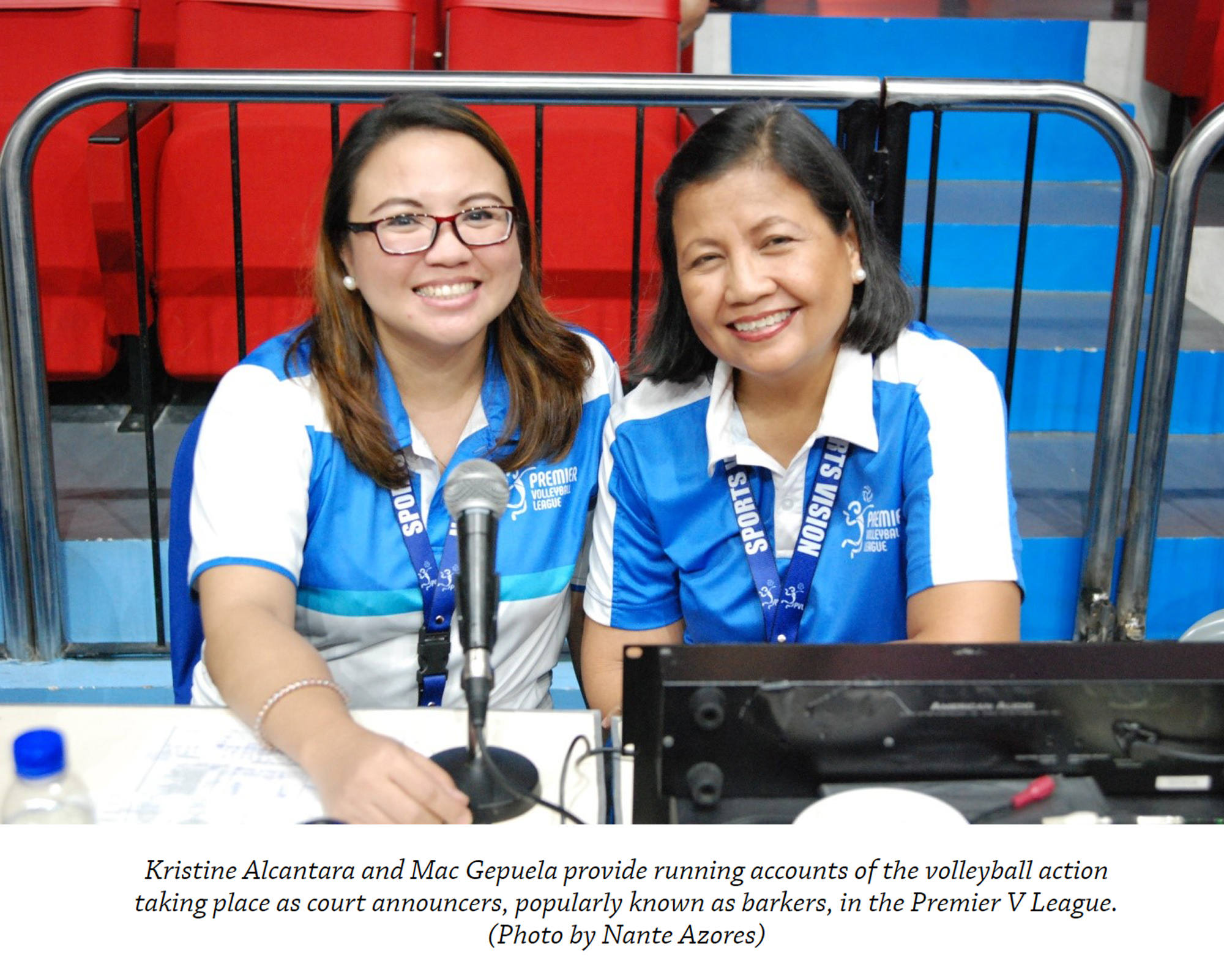 Mac and Kris: A pair of sweet-voiced court announcers | ABS_CBN Sports Online