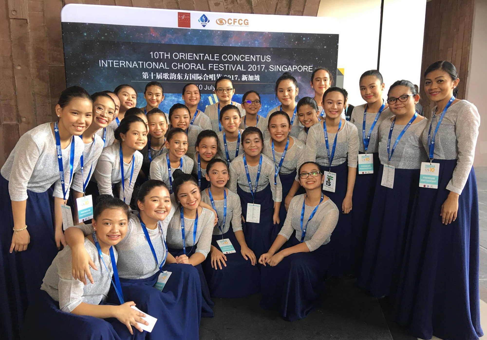 MCMS Chorus wins silver awards in Singapore