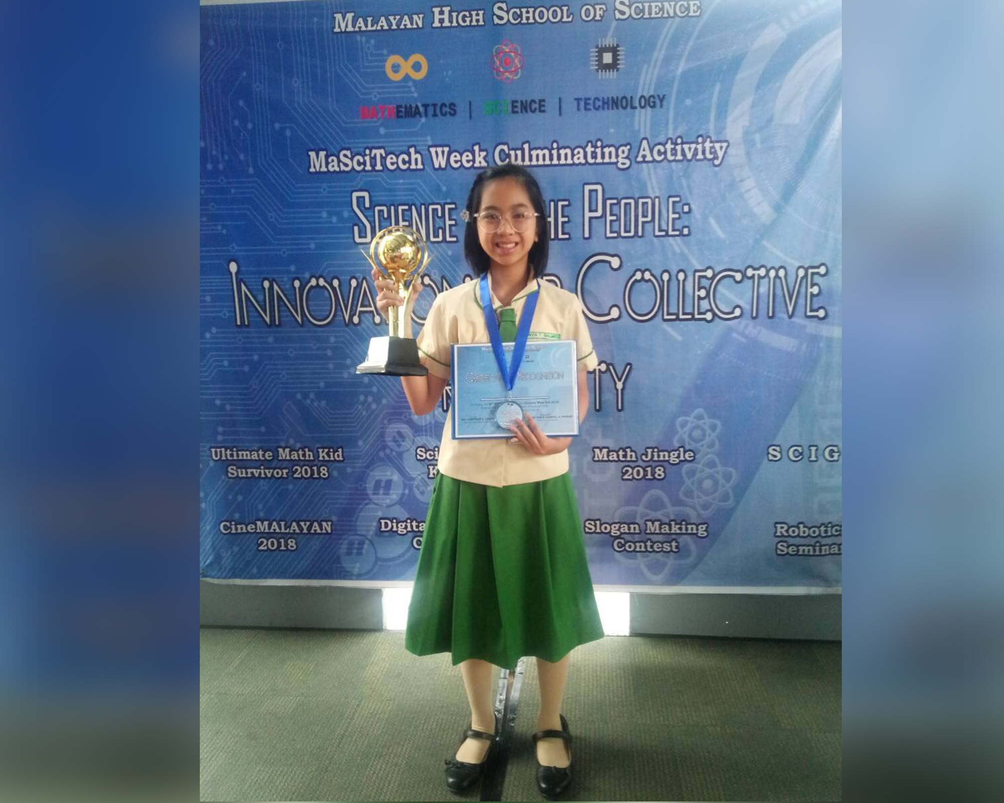 MCMS student wins in Sci Whiz Kid 2018 competition