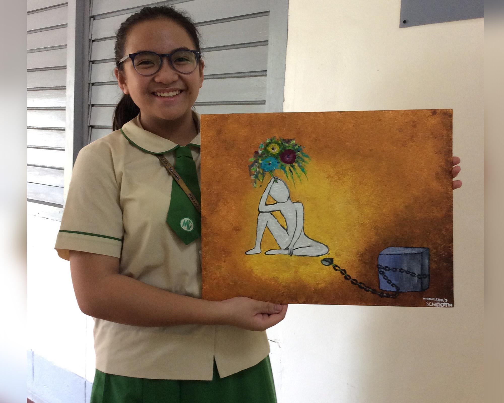 MCMS artist wins in international art contest