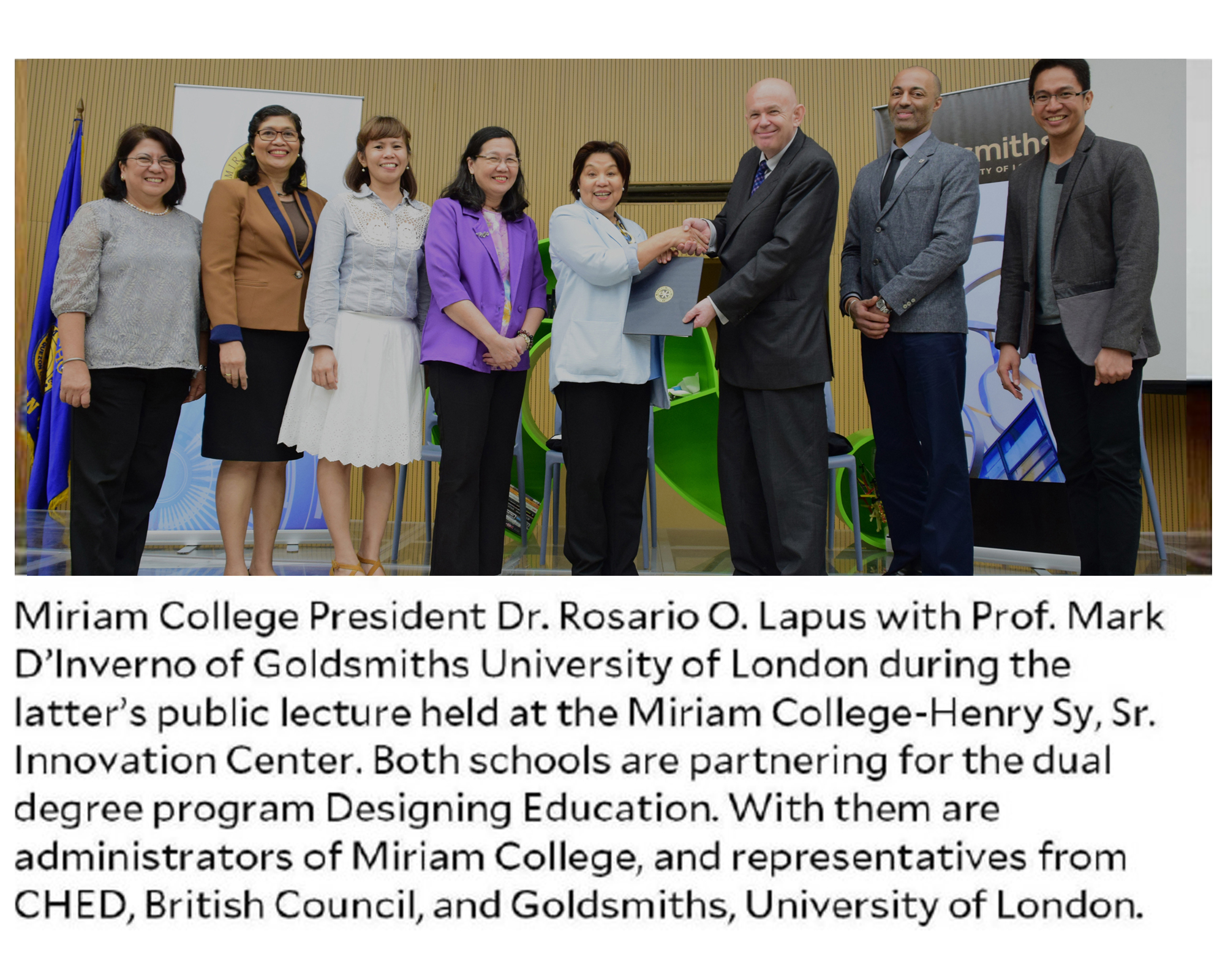 Miriam College, Goldsmiths in UK partner for dual graduate degree program in designing education
