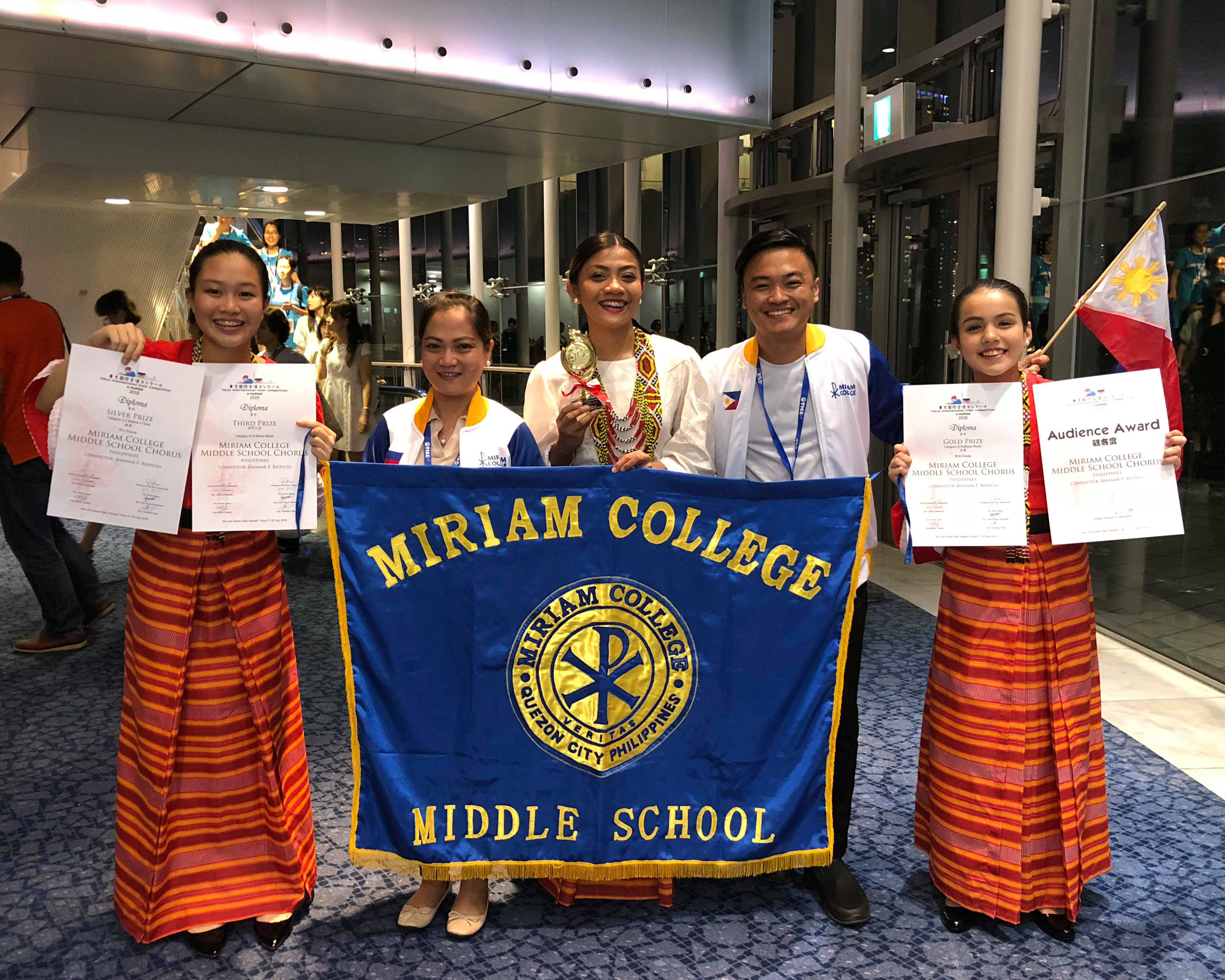 Miriam College MS Chorus wins Gold, Silver prizes at Int'l