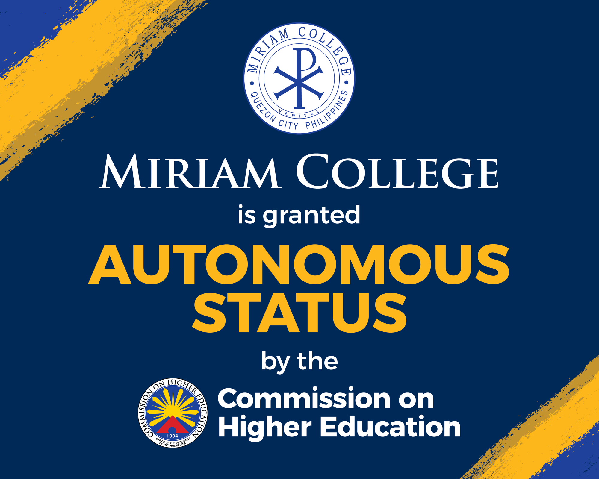 Miriam College granted Autonomous Status by CHED