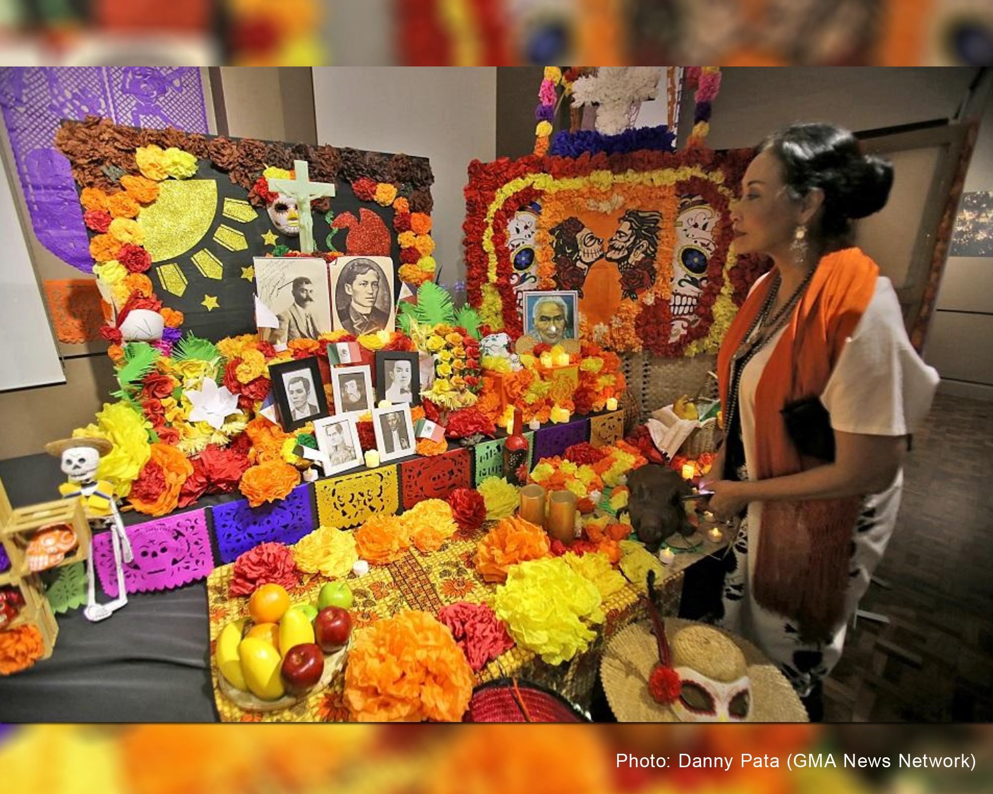 Mexican Embassy in the PHL celebrates Dia de Los Muertos with face paint, exhibit | GMA News Network