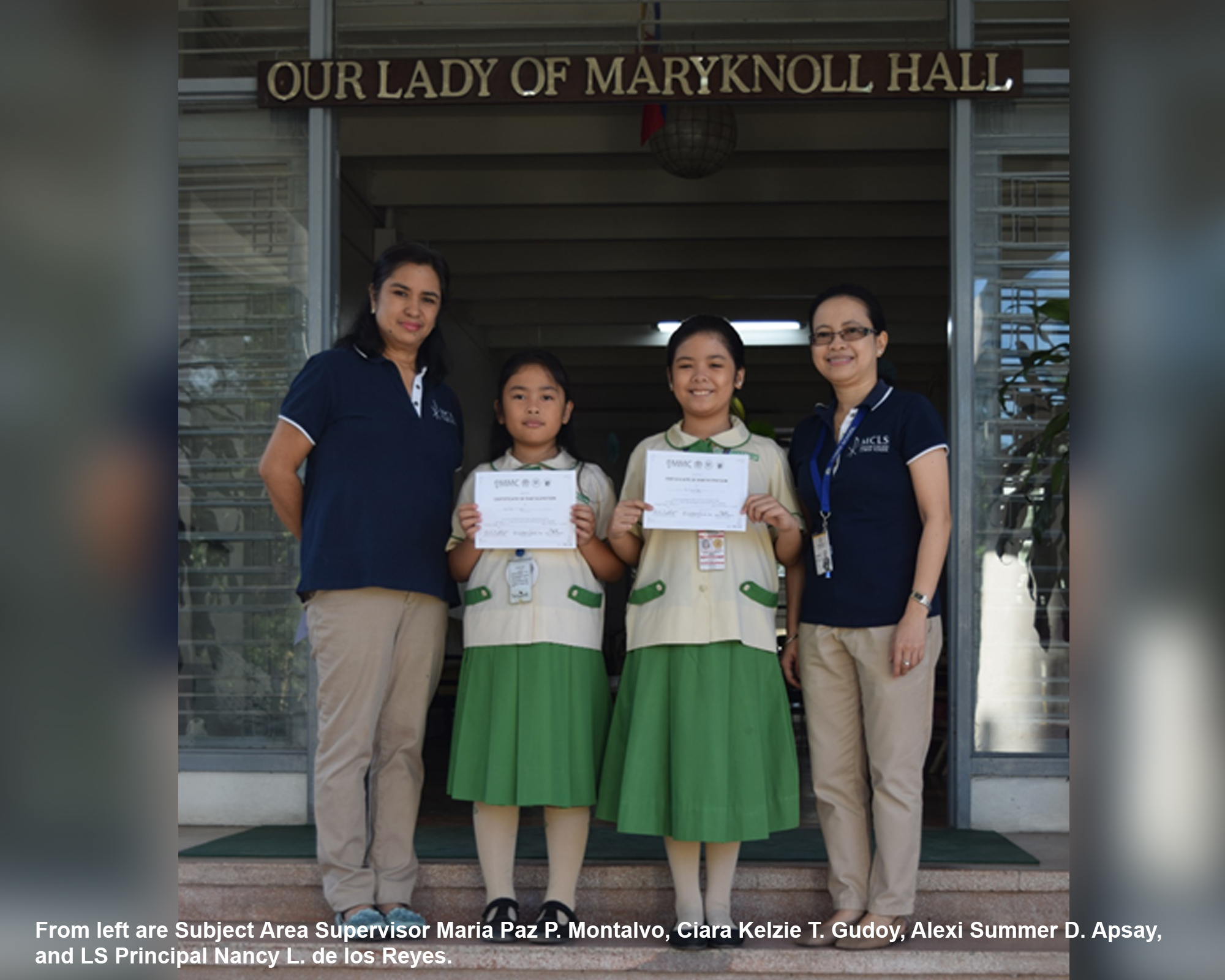 LS students recognized in esteemed nat'l math competition