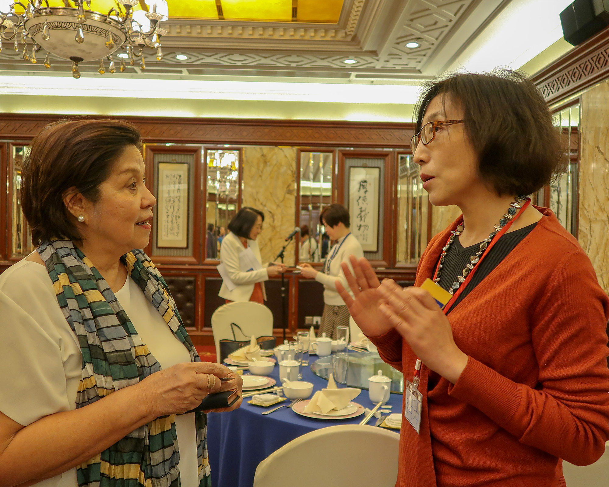 Dr. Lapus shares MC experience at Asian women's colleges and universities forum in Nanjing