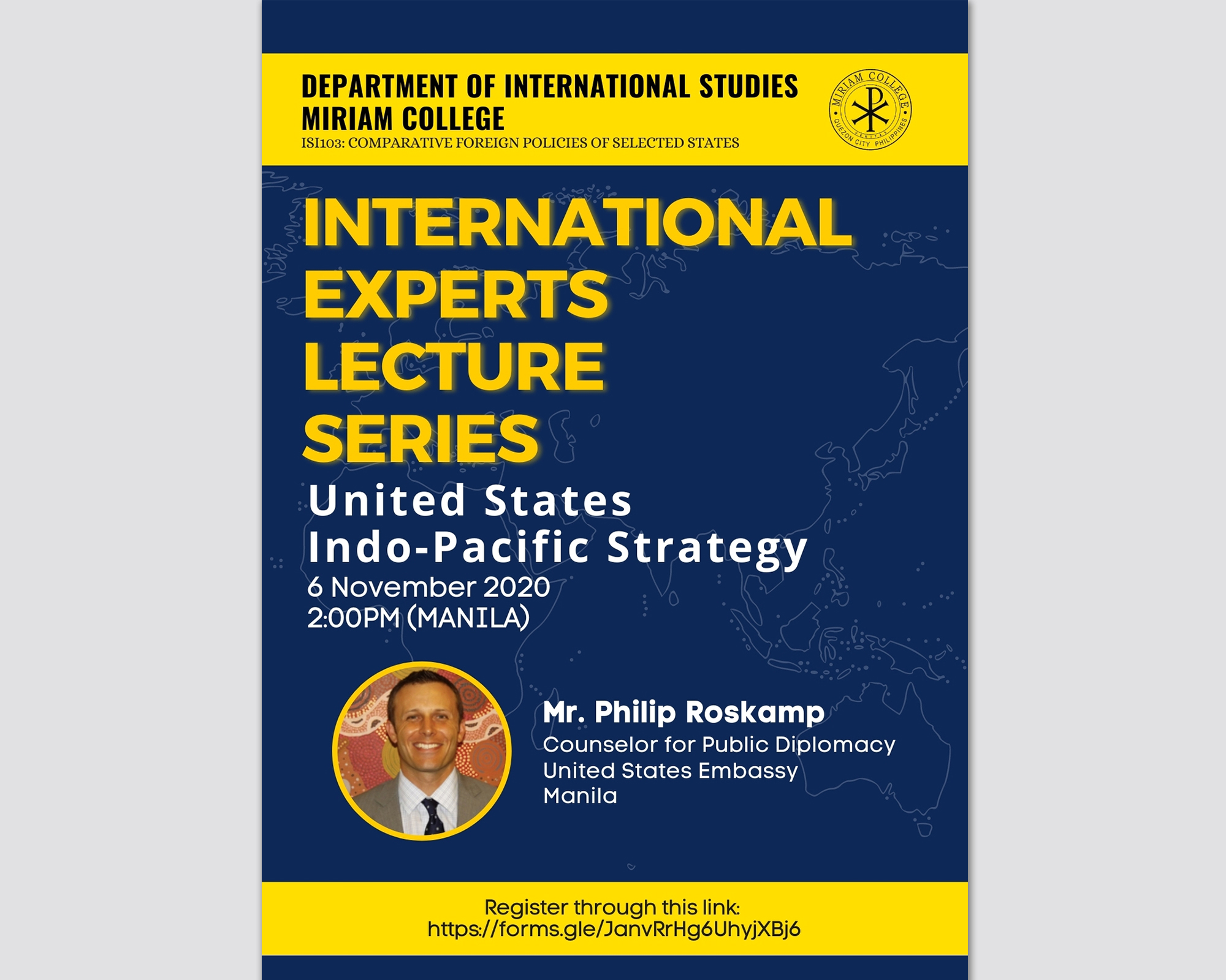 US Indo-Pacific Strategy Takes Center Stage at the MCIS International Experts Lecture Series
