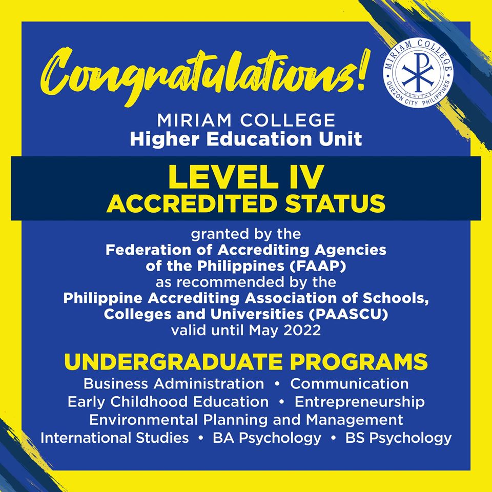 PAASCU Level IV Status granted to 8 HEU programs