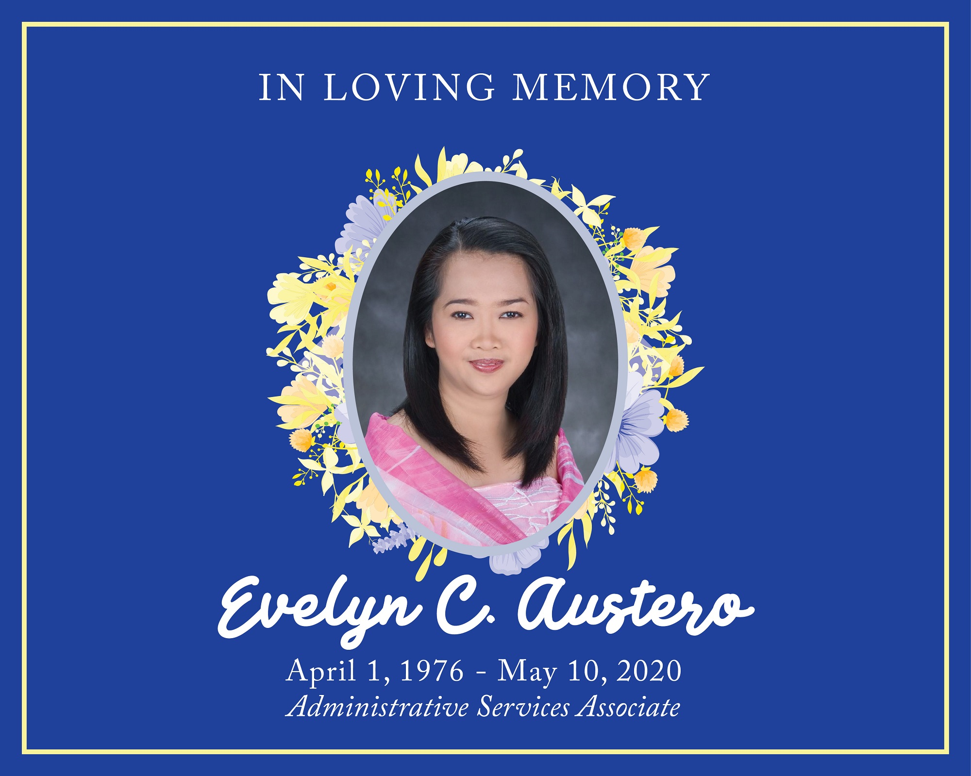 Evelyn C. Austero  |  MC Obituary