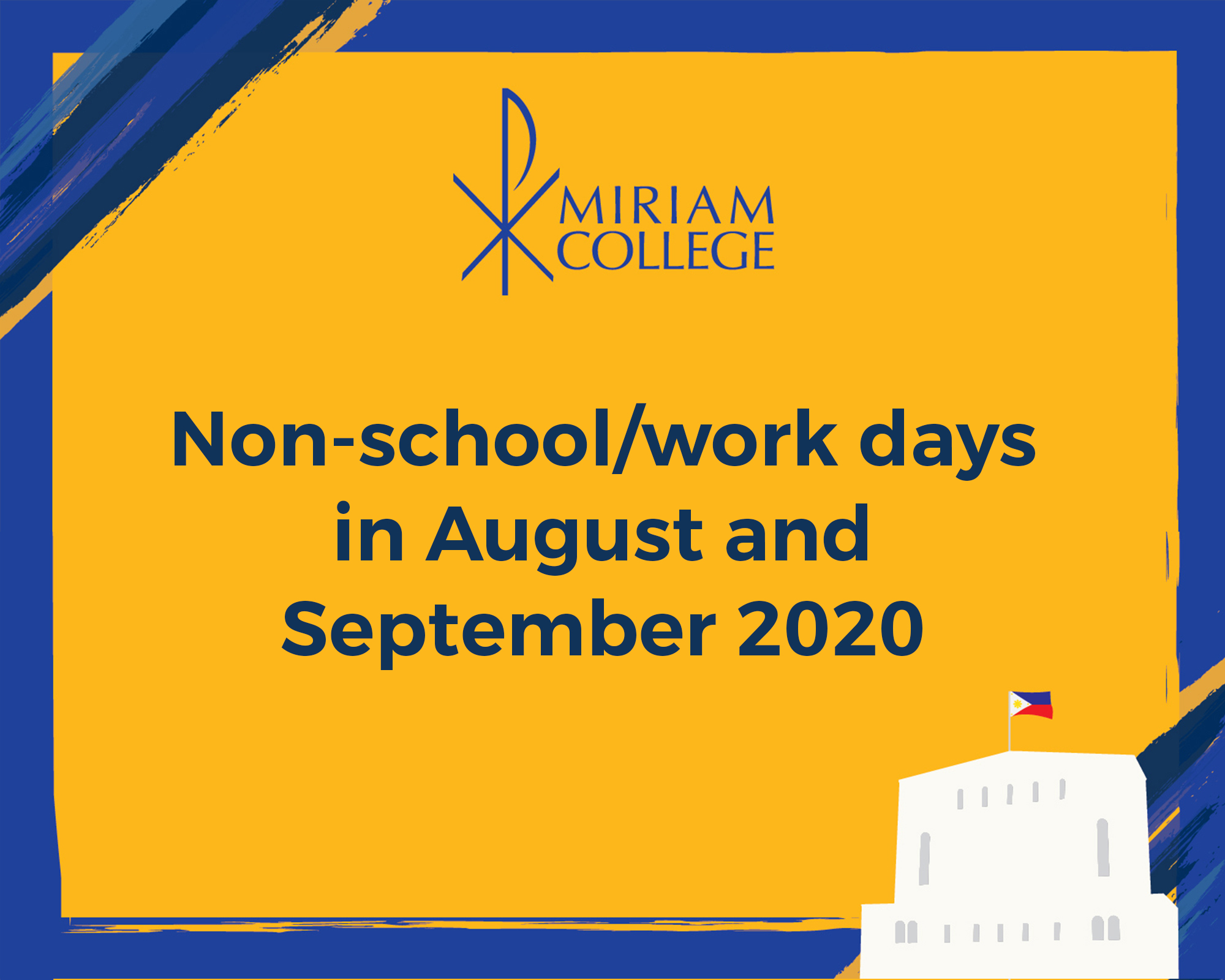 Non-school/work days in August and September 2020