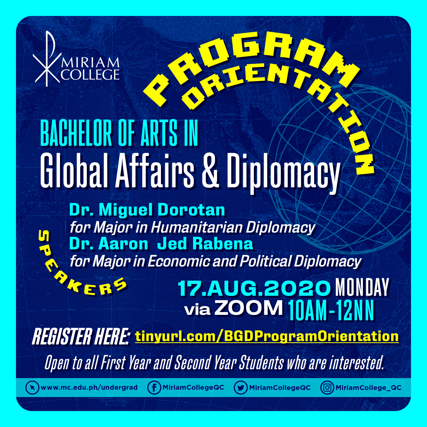 Orientation for BA Global Affairs and Diplomacy Program