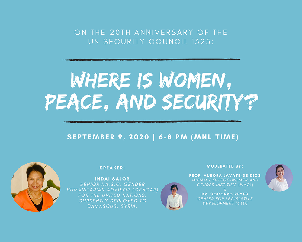 On the 20th Anniversary of the UN Security Council Resolution 1325: Where is Women, Peace, and Security?