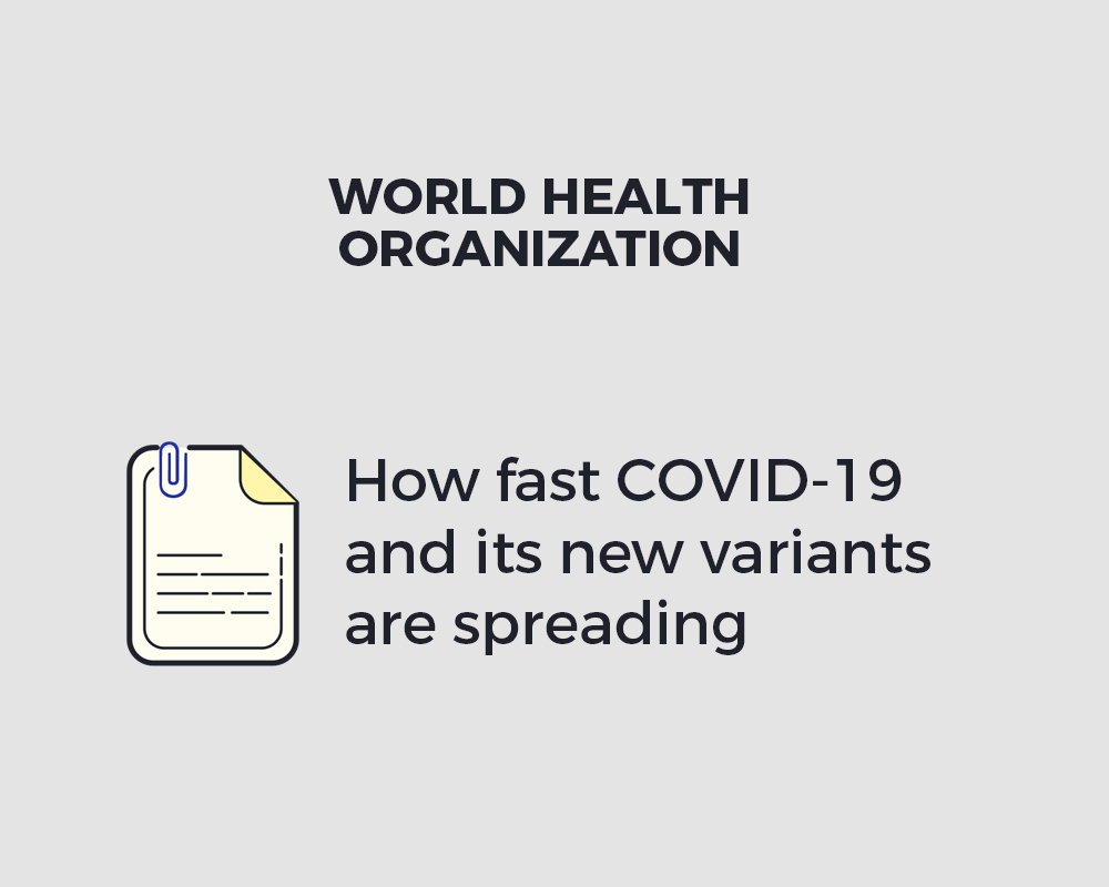 How fast COVID-19 and its new variants are spreading  |  World Health Organization