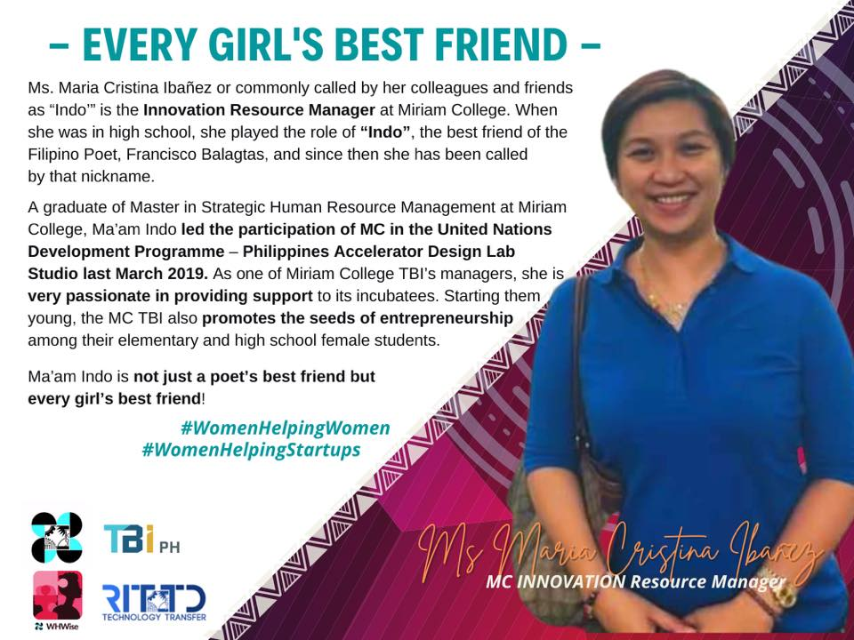 MC-TBI's Cristina Lazaro Ibanez recognized as one of the women leaders in the DOST TBI Network