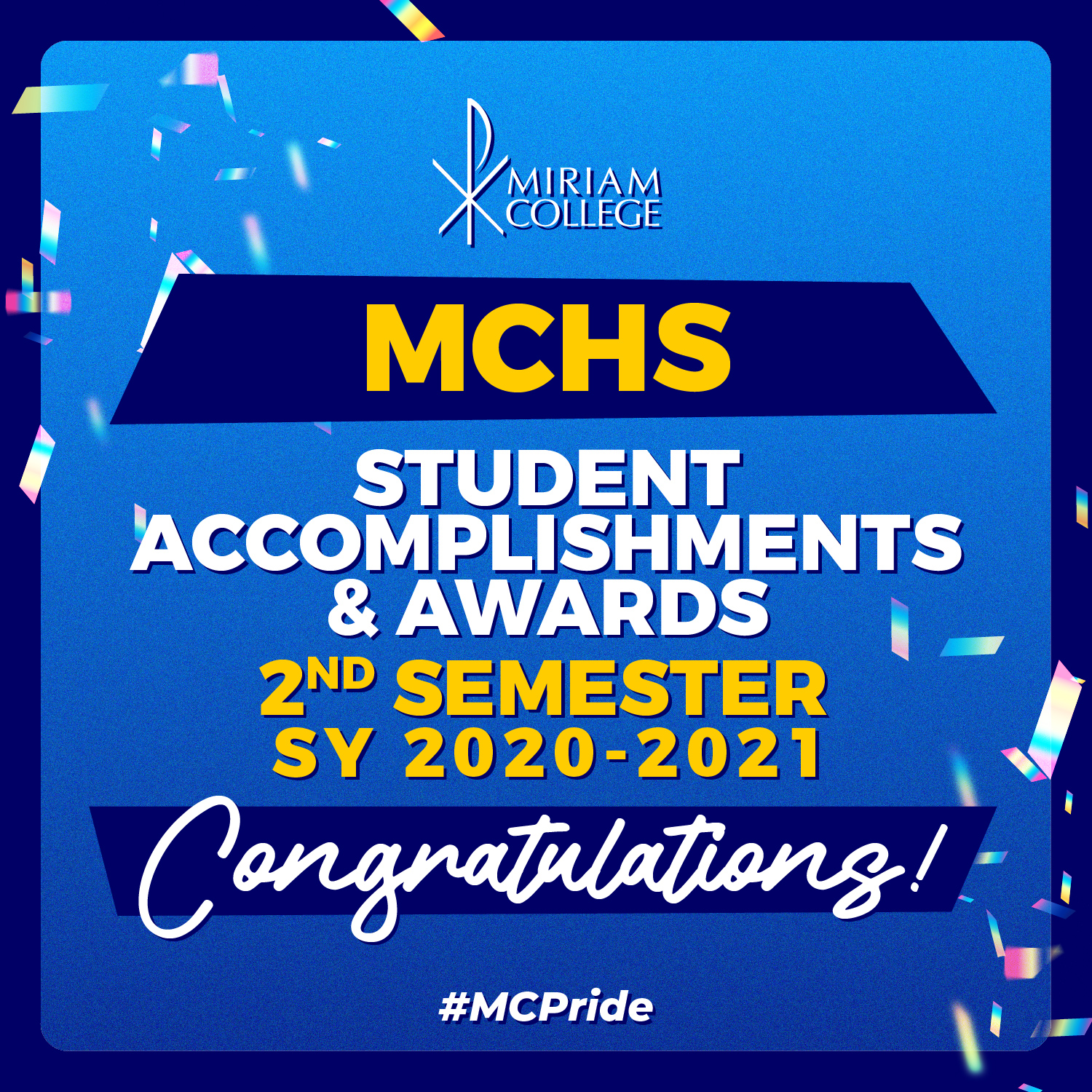MCHS Accomplishments and Awards for 2nd Semester, SY 2020-2021